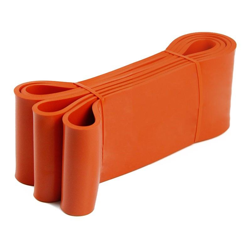 Ластична лента за упражнения, набирания и тренировка ОРАНЖЕВ със съпротивление 30-70 кг.