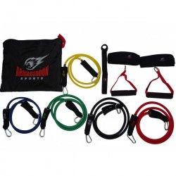 Комплект фитнес ластици за трениране от 11 части