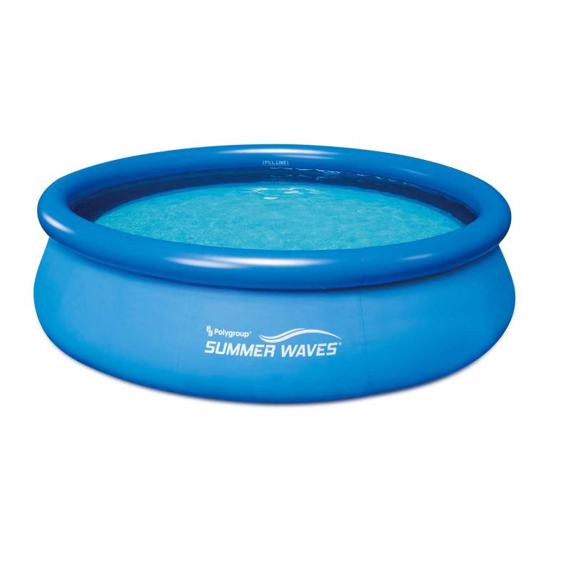 Басейн надуваем 3.05х76см. Polygroup Summer Waves Quick Set с надуваем борд и филтрираща помпа.