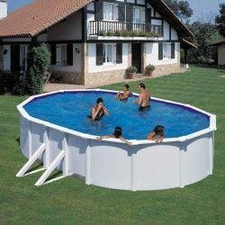 Сглобяем басейн с метална стена овал 500 x 300 h 120см.