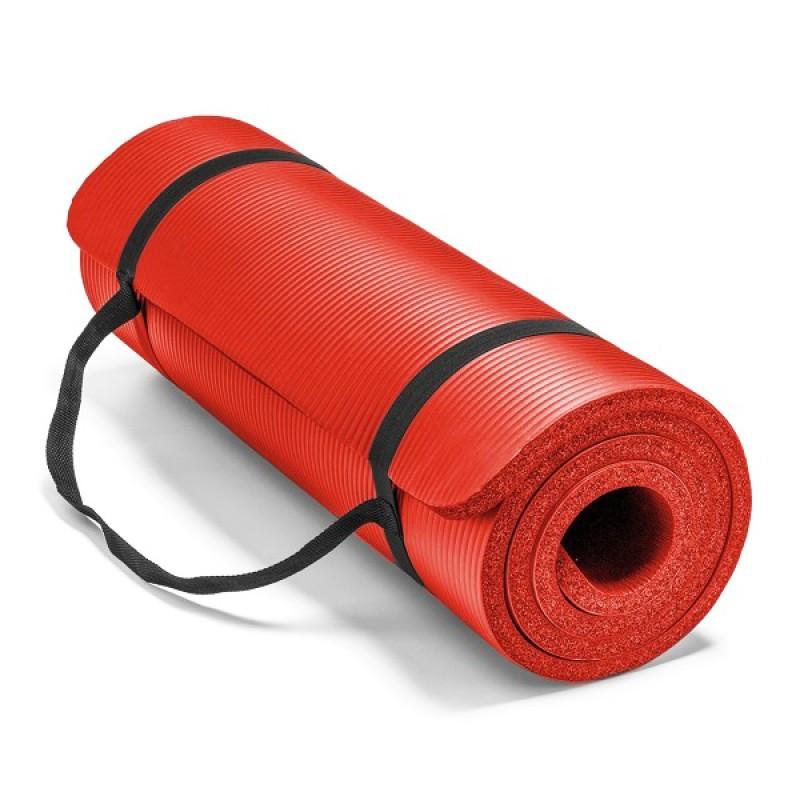 Постелка за йога и упражнения NBR Eco-Friendly Armageddon Sports, 183 x 61 x 1 см, ЧЕРВЕН