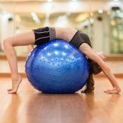 Масажна фитнес топка 65 см с помпа