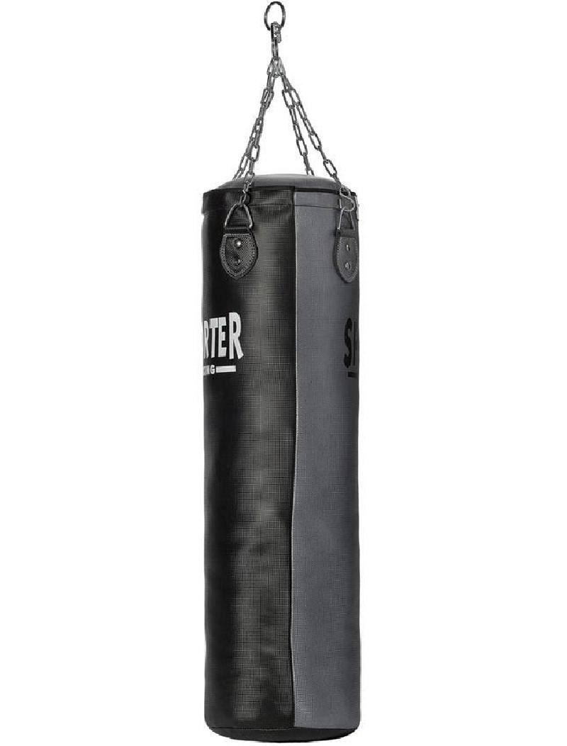 Боксов Чувал от изкуствена кожа Чернo и Сиво 30x150 см