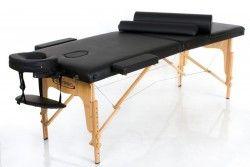 Масажна маса - кушетка Classic-2 сгъваема - цвят - черен