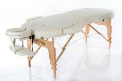 Масажна кушетка (маса за масаж) VIP oval 2 цвят кремав и черен
