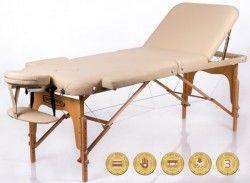 Сгъваема масажна маса - кушетка Memory 3 Beige