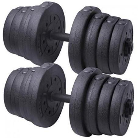 Дъмбел 15 кг с PVC дискове