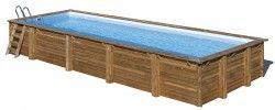 Дървен Басейн MINT с размери 1000 x 400 x 146 cm