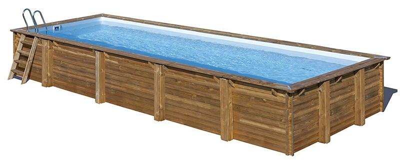 Дървен ПРАВОЪГЪЛЕН басейн MINT с външни размери 1018 x 427 x 146 cm/вътрешни размери 963 x 380 x 142 cm