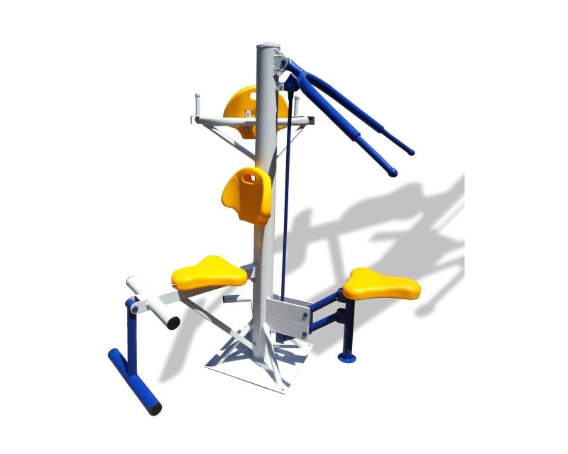 Троен комбиниран външен фитнес уред