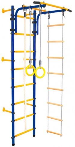 Детски гимнастически комплекс за стена синьо-жълто