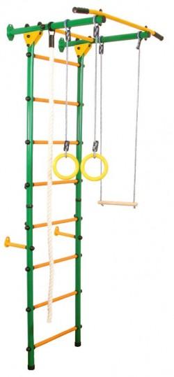 Гимнастически Комплекс за стена Лайт зелен-жълт