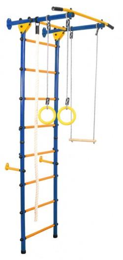Гимнастически Комплекс за стена Лайт син-жълт