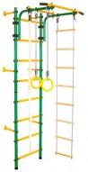 Детски гимнастически комплекс за стена зелено-жълто