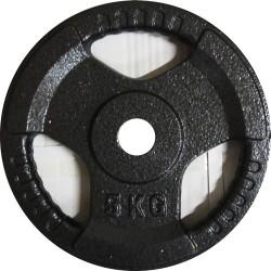 Диск за щанга метал 5кг Ф25мм с дръжки