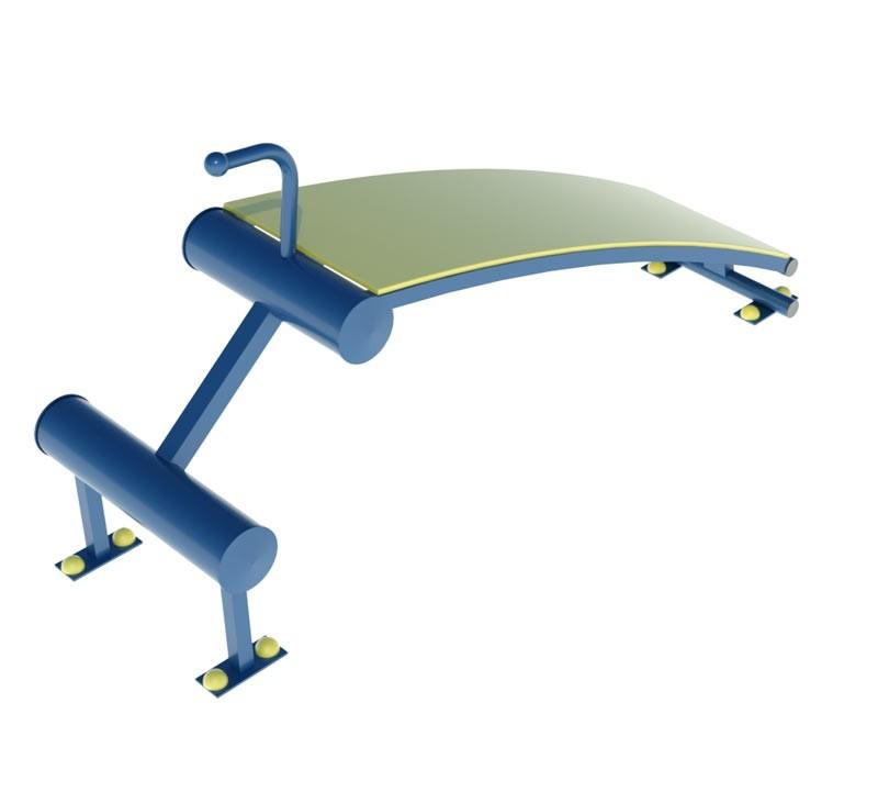 Външен фитнес уред за коремни преси стар модел