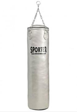 Боксов Чувал от изкуствена кожа Чернo и Сиво 30x120 см