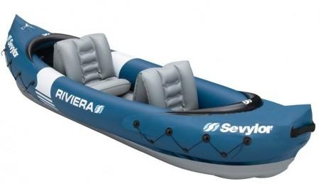 Надуваем двуместен каяк Sevylor Riviera 2p kayak