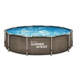 Басейн с тръбна рамка ратан Summer Waves диам 488х122см.