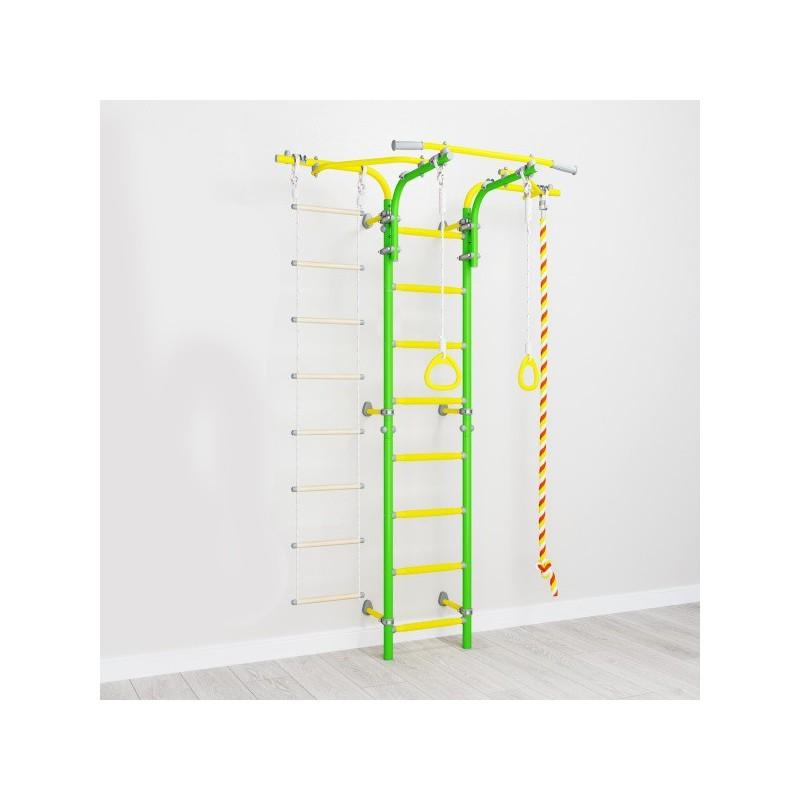 Гимнастически домашен Комплекс Шведска стена - с въжена стълба S6