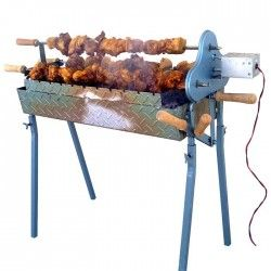Барбекю за шишове на дървени въглища - Сувла
