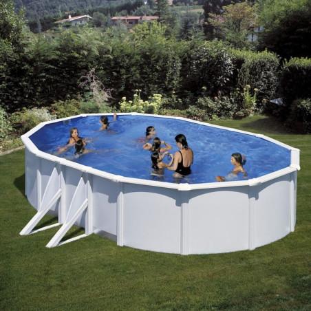 Дълбок басейн с метална стена овал 610 x 375 h 132 см.