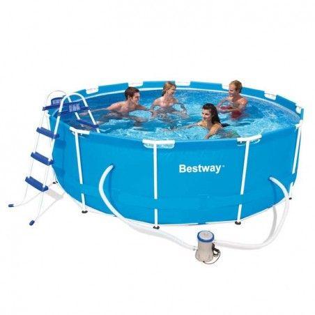 басейн Bestway 56418 с диаметър 366cm и дълбочина 100cm