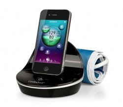 Апарат за измерване на кръвно налягане с анализиращ модул за iPhone или iPod touch Medisana CardioDock 2,