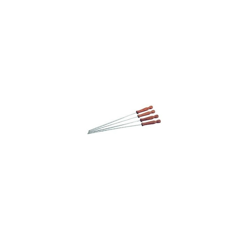 шишове за барбекю метал с дървена дръжка - 4 бр. - 45 см. 0293
