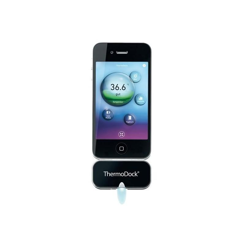 Безконтактен инфрачервен термометър – модул за iPhone®, iPod touch® или iPad® 76156