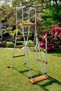 Басейн овал 610х375х120 с имитация на дърво KIT610W
