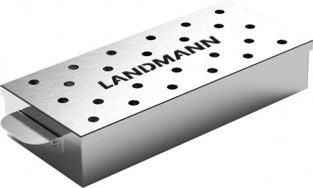 Метална кутия за чипс заопушване в барбекю. 31х11х4,5 см.