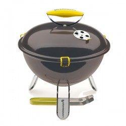 Барбекю за дървени въглища скара ф34см емайлирано черно 31377