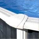Басейн овал, имитация графит 500 x 300 h 120 см. Сглобяем метален басейн. Тъмно покритие.