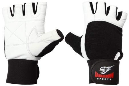 Фитнес Ръкавици с Накитници White, размер S,M,L,XL Естествена кожа, накитник