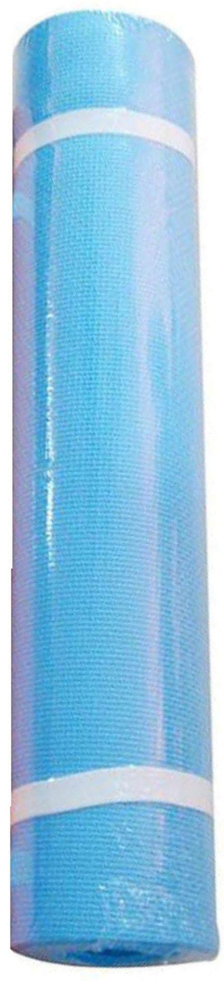 Постелка за йога и тренировка, цвят СИН