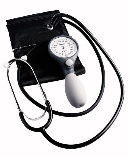 Механичен апарат за кръвно на Riester Германия ri-san+st