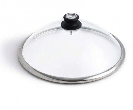 Капак за LotusGrill от стъкло с вграден термометър, 34см