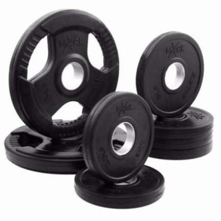Олимпийски гумирани дискове с отвори за хващане