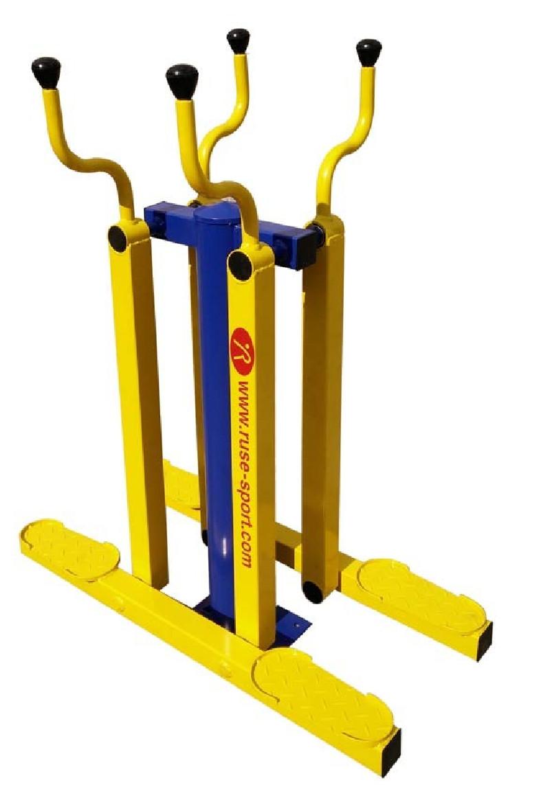 Двоен ски тренажор за външен фитнес