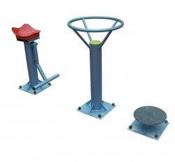 Комбиниран уред за външен фитнес от 3 части