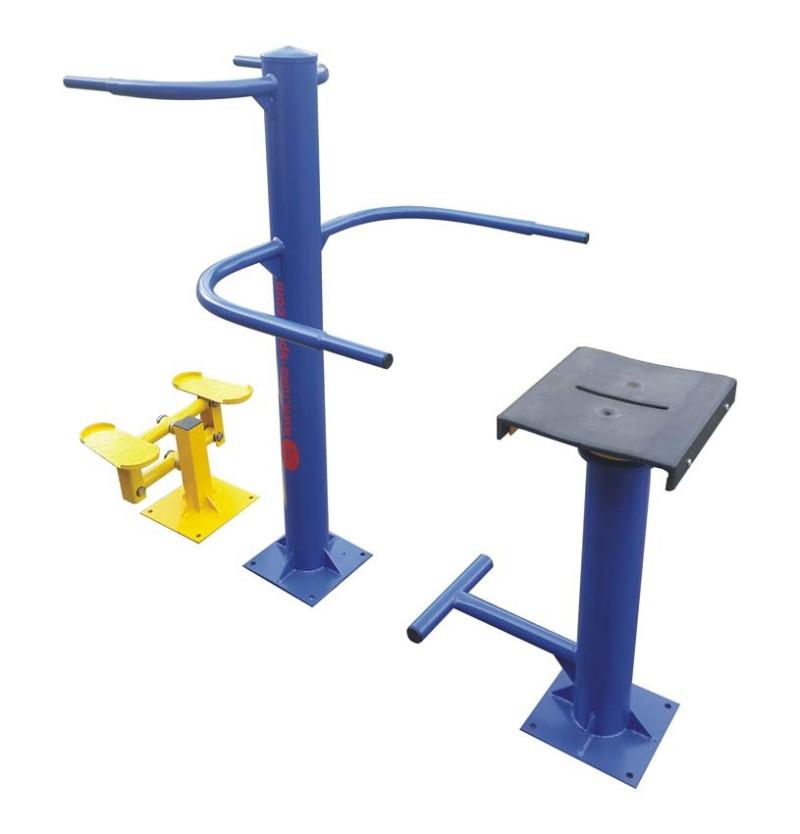 Въртящ стол със степер - комбиниран външен фитнес уред