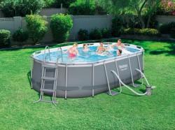Елипсовиден басейн Bestway 56620 размери-424-250-100 см
