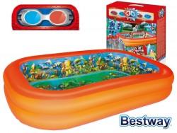 Надуваем басейн за деца Bestway 54114 с размери 262х175х151