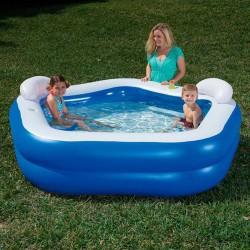 Надуваем детски басейн с възглавнички Bestway 54153