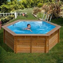 Дървен Кръгъл басейн VANILLE с външни размери d 412 x 119 cm/