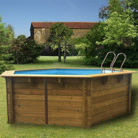 Дървен басейн VIOLETTE кръгъл с външни размери d 511 h 124 cm