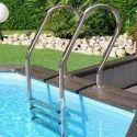 Дървен басейн кръгъл с външни размери d 511 h 124 cm