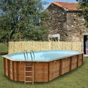 Дървен Овален басейн с външни размери 6872 x 472 x 146 cm GRE 786236E