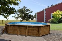 Дървен сглобяем басейн SEVILA с размери 872 x 472 дълбок 146 cm